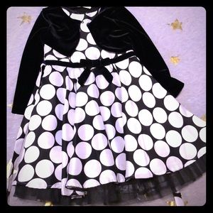 Black and white polka dot dress by Rare Editions